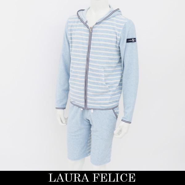 LauraFelice(ラウラ・フェリーチェ)セットアップ (サックス×ホワイト)132 6003 23/132 6052 23