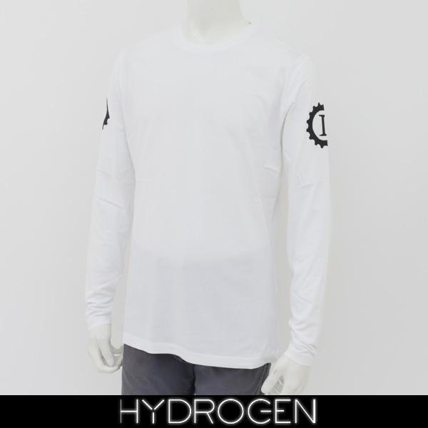 HYDROGEN(ハイドロゲン)メンズ長袖Tシャツ/ロンTロングTシャツホワイトLG0009