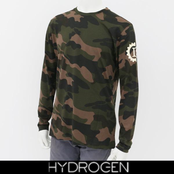 HYDROGEN(ハイドロゲン)メンズ長袖Tシャツ/ロンTロングTシャツカモフラ柄LG0009
