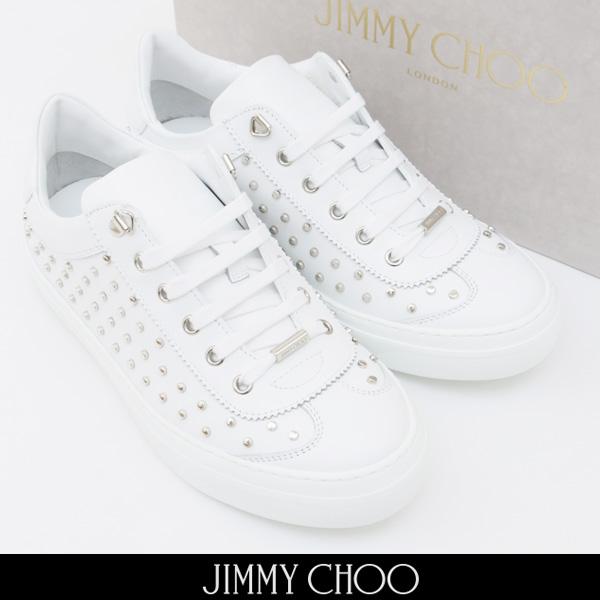 JIMMY CHOO(ジミーチュウ)スニーカーホワイトACE OOD