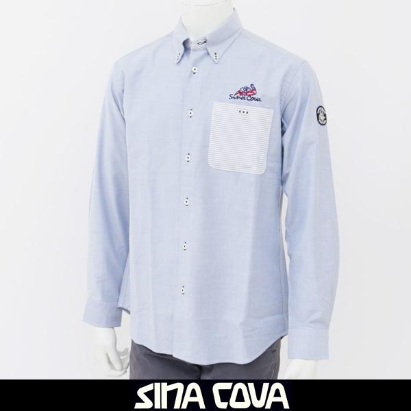 大人気SINA COVA(シナコバ)長袖シャツサックス系77824050 270