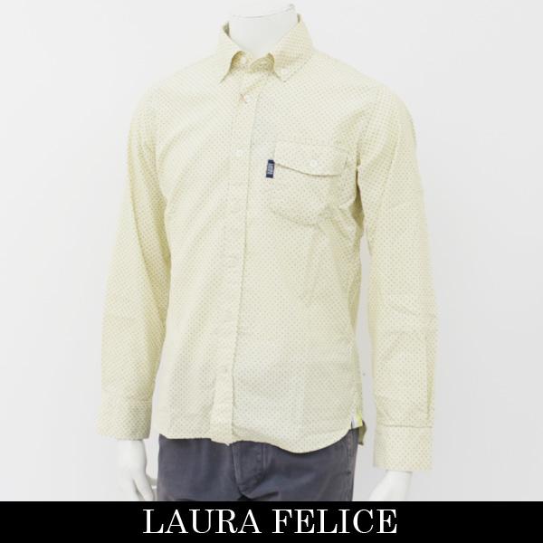 LauraFelice(ラウラ・フェリーチェ)長袖カジュアルシャツイエロー131 3112 12