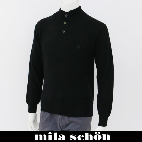 mila schon(ミラ・ショーン)ハイネックセーターブラック31380 121 99