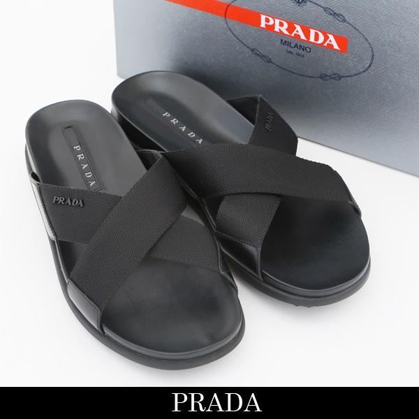 PRADA(プラダ)フラットサンダルブラック4X3210 102C F0002
