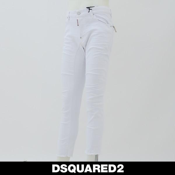DSQUARED2(ディースクエアード)ジーンズTIDY BIKER JEANホワイトS74LB0390