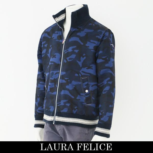 LauraFelice(ラウラフェリーチェ)リバーシブルジャンバーネイビー系(カモフラ柄)131 1008 27