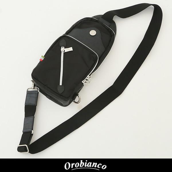 OROBIANCO(オロビアンコ)ボディバッグブラック0624 IBRIDELLO-H