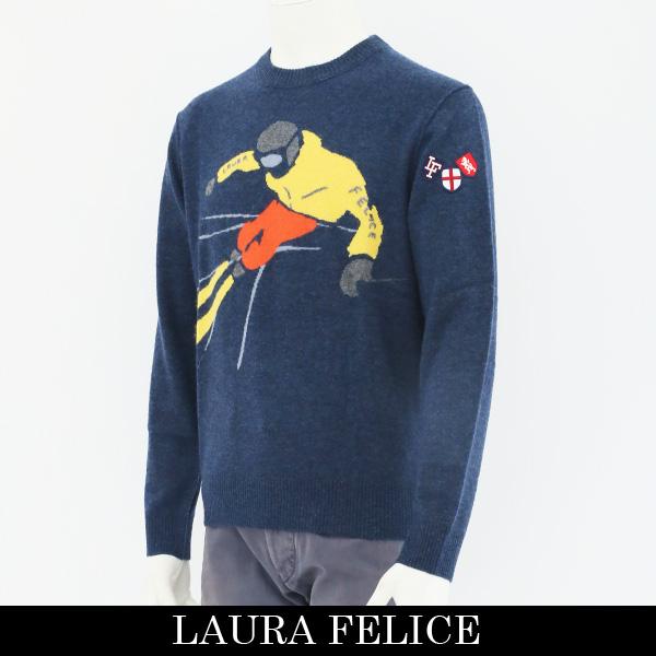 LauraFelice(ラウラ・フェリーチェ)セーターネイビー131 7009 26