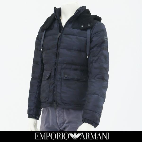EMPORIO ARMANI(エンポリオ アルマーニ)ダウンブルゾンフード(着脱可)カモフラ柄UNB49JW