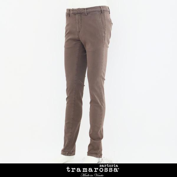 tramarossa(トラマロッサ)ストレッチコットンパンツブラウンLUIS SLIM 75971002