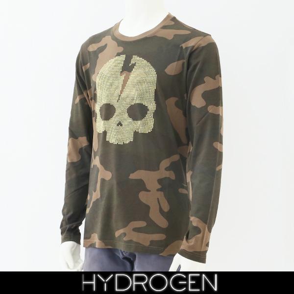 HYDROGEN(ハイドロゲン)メンズ長袖Tシャツ/ロンTロングTシャツカモフラ柄230126