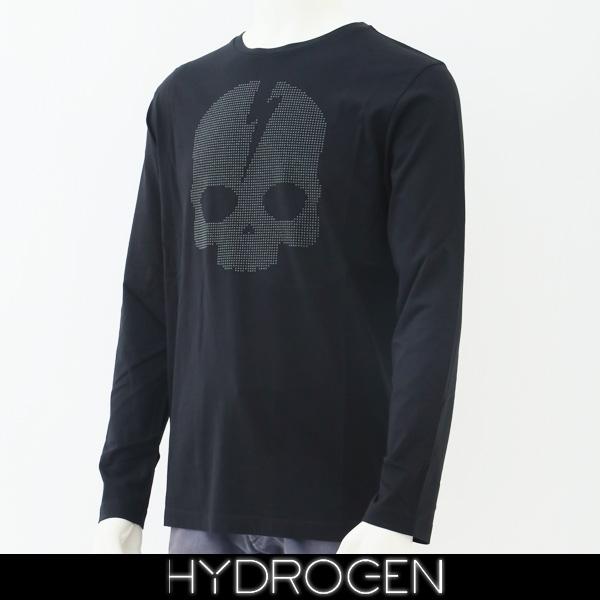 HYDROGEN(ハイドロゲン)メンズ長袖Tシャツ/ロンTロングTシャツブラック230126