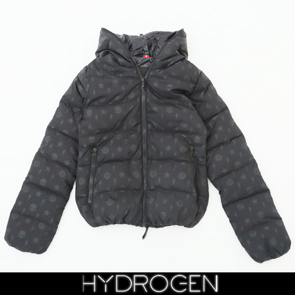 HYDROGEN(ハイドロゲン)×DUVETICA(デュベティカ)レディースフード付きダウンブルゾンブラック23D106 THIASENZA