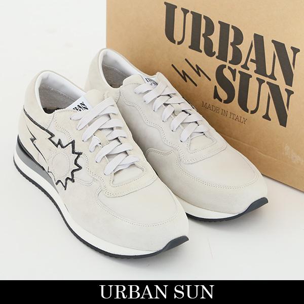 URBAN SUN(アーバンサン)スニーカーホワイト/ライトグレーALAIN 100