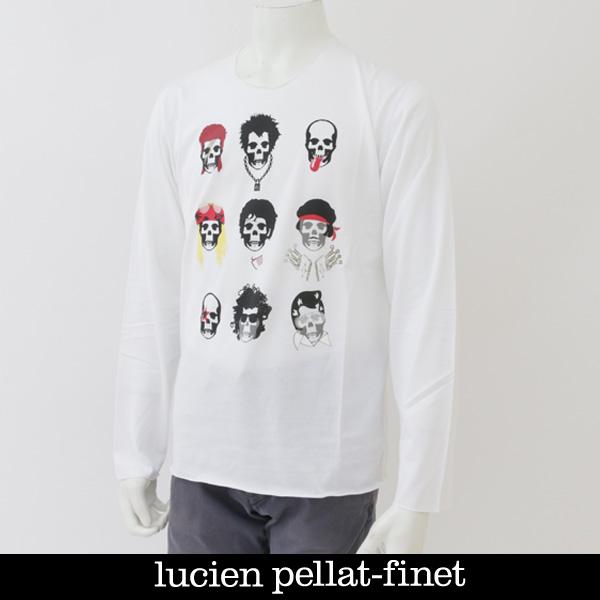Lucien Pellat-finet(ルシアンペラフィネ)スカルロングTシャツホワイトEVU2041