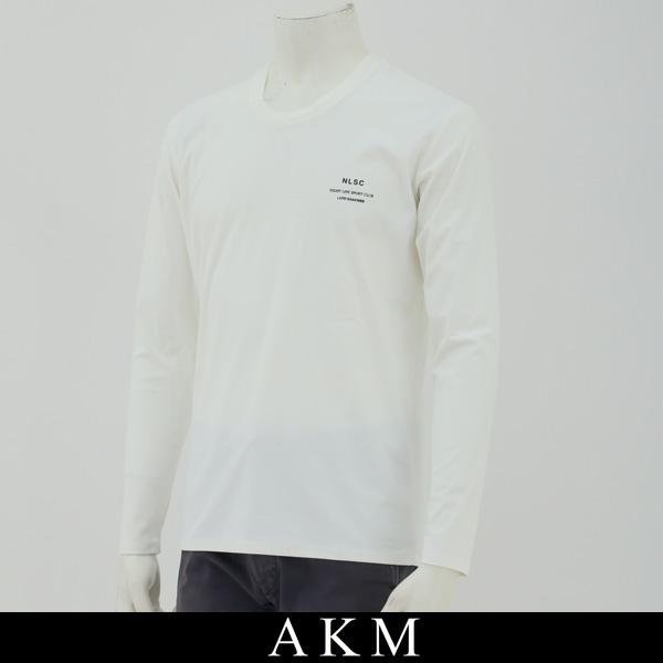 AKM(エイケイエム)ロングTシャツ長袖TシャツホワイトAJ087 PP02