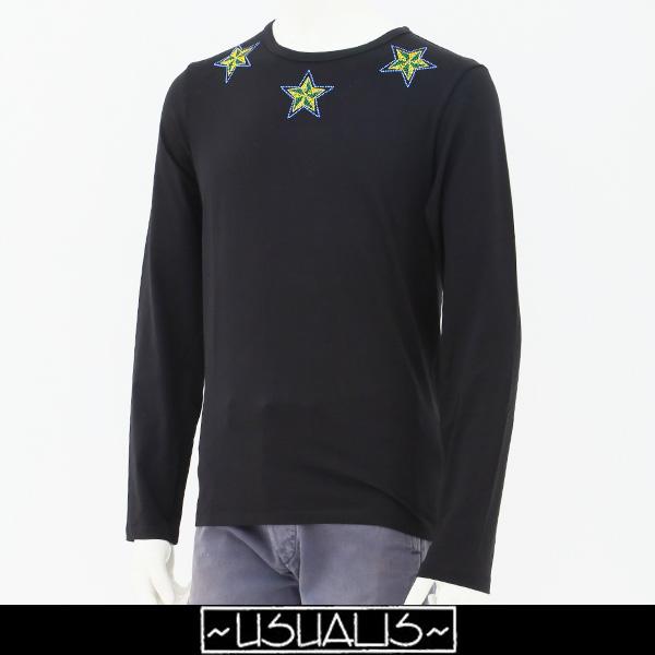 USUALIS(ウザリス)ロングTシャツブラックU7018M 507118