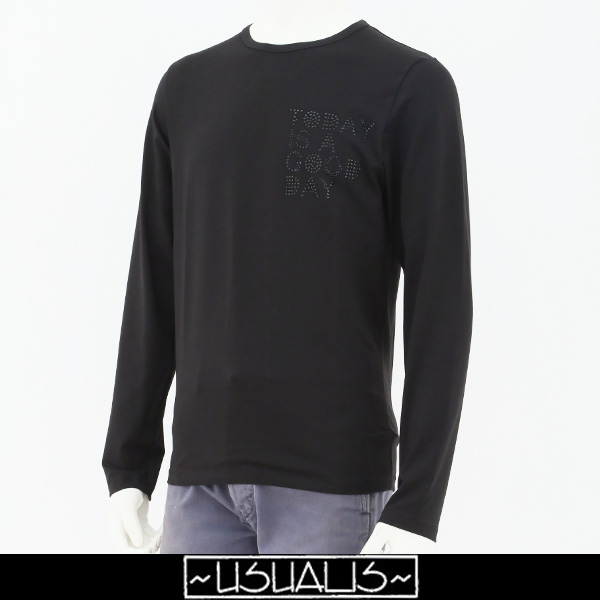 USUALIS(ウザリス)ロングTシャツブラックU7016M 507115