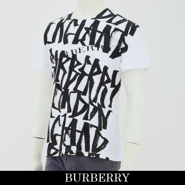 Burberry(バーバリー)半袖Tシャツホワイト×ブラック4073735