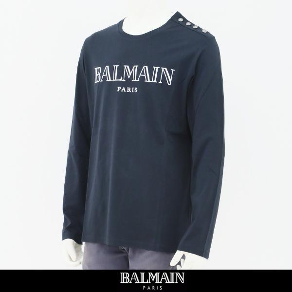 balmain(バルマン)【メンズウェア】ロングTシャツネイビー系W8H 8651 I259
