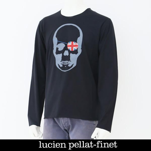Lucien Pellat-finet(ルシアンペラフィネ)スカルロングTシャツブラックEVU2045 63402