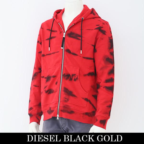DIESEL BLACK GOLD(ディーゼル)ジップアップパーカーレッド00SHDN BGFJT
