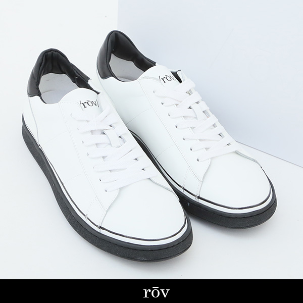 ROV(ローヴ)スニーカーホワイト×ブラックBASIC18304 WHITE BLACK