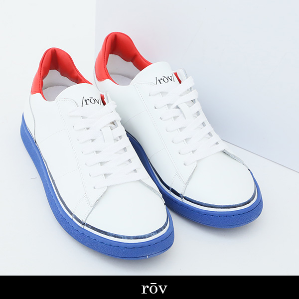 ROV(ローヴ)スニーカーホワイト×レッド×ブルーBASIC18304 WHITE RED BLUE