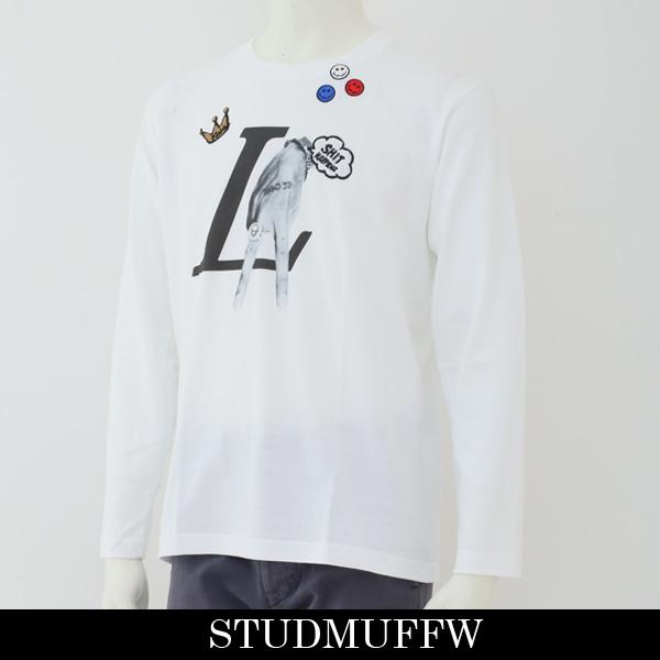 STUD MUFFIN(スタッドマフィン)ロングTシャツホワイト824 02043