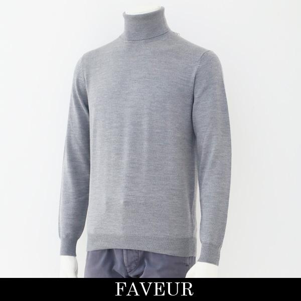 FAVEUR(ファヴール)タートルネックセーターグレー6183 1135