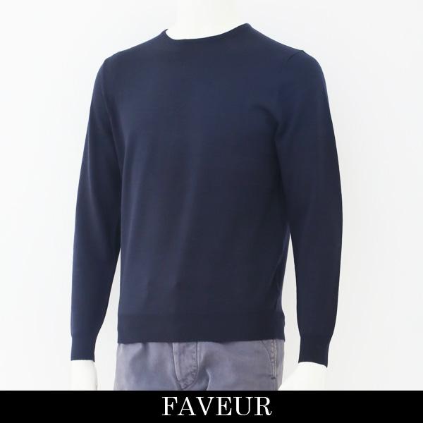 FAVEUR(ファヴール)クルーネックセーターネイビー6183 1136