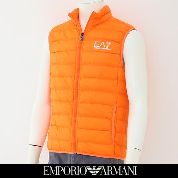 EMPORIO ARMANI(エンポリオ アルマーニ)ダウンベストオレンジ8NPQ01 PN29Z