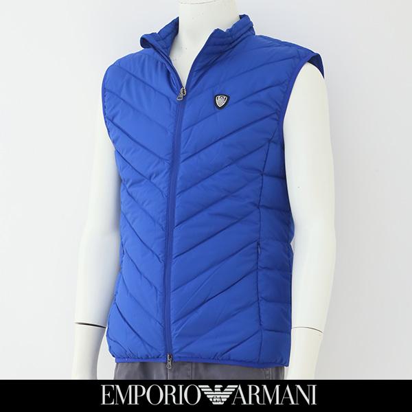 EMPORIO ARMANI(エンポリオ アルマーニ)ダウンベストブルー8NPQ05 PNE1Z