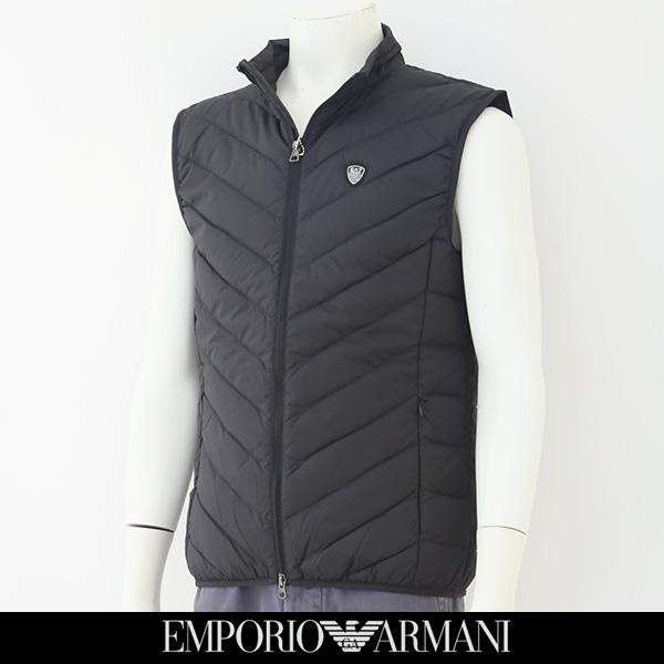EMPORIO ARMANI(エンポリオ アルマーニ)ダウンベストブラック8NPQ05 PNE1Z