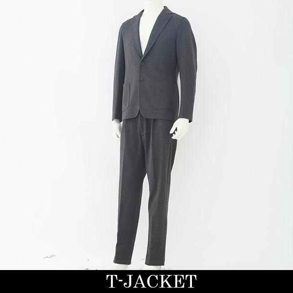 T-JACKET(ティージャケット) メンズスーツ(2つボタン)チャコールグレー51BA419J 70329001