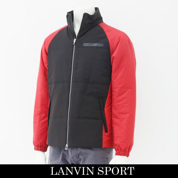 LANVIN SPORT(ランバン スポール)ダウンジャンバーブラック×レッドVMK607170 R02
