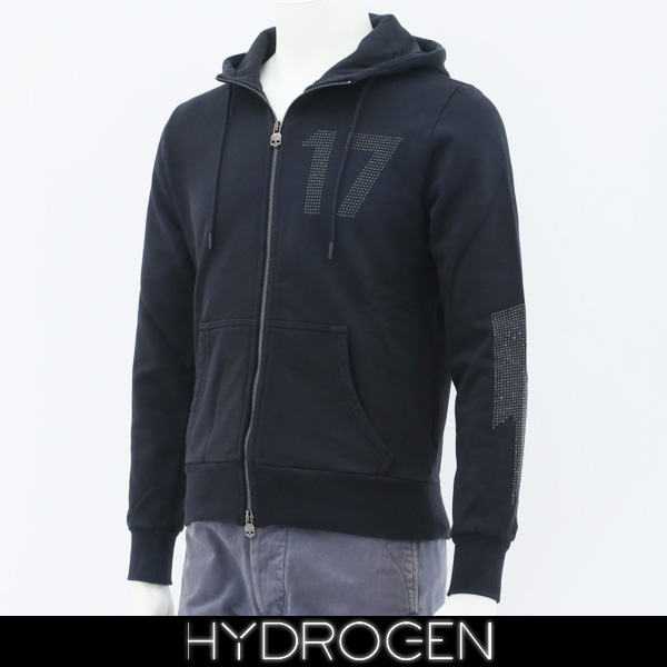 HYDROGEN(ハイドロゲン)レディースジップアップパーカーブラック231114