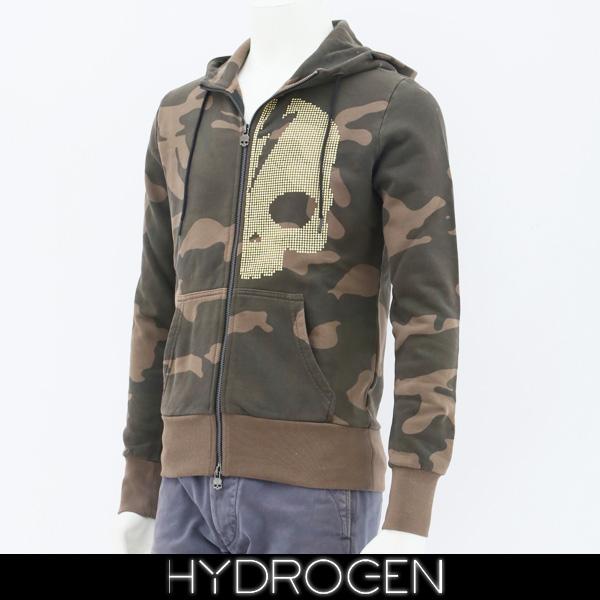 HYDROGEN(ハイドロゲン)レディースジップアップパーカーカモフラ柄231116
