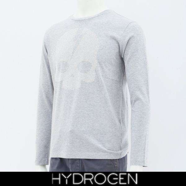 HYDROGEN(ハイドロゲン)レディース長袖Tシャツ/ロンTロングTシャツグレー231126