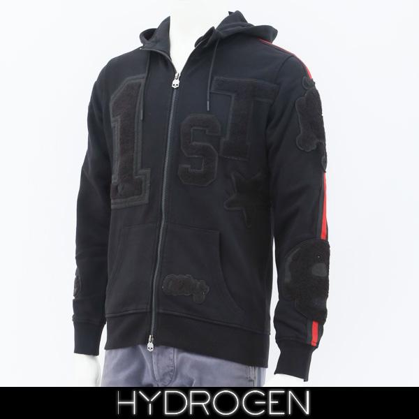 HYDROGEN(ハイドロゲン)ジップアップパーカーブラック230672
