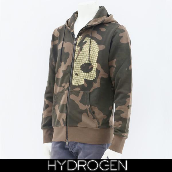 HYDROGEN(ハイドロゲン)ジップアップパーカーカモフラ柄230116