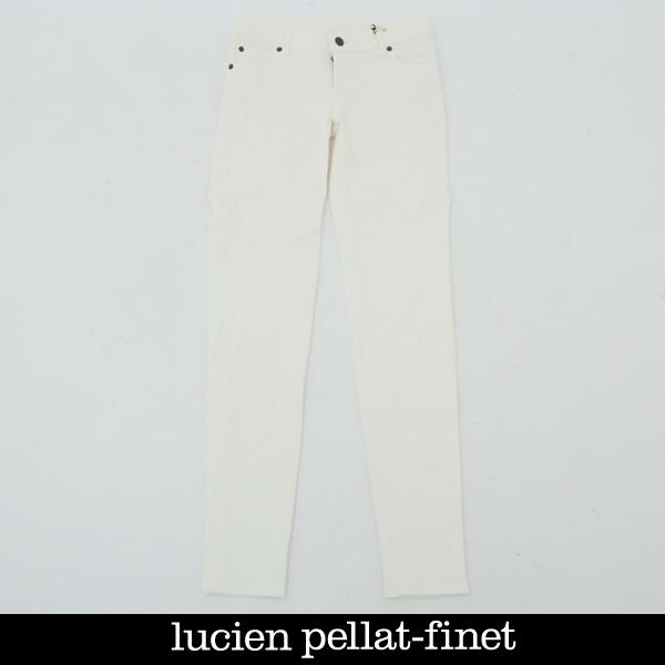 lucien pellat-finet(ルシアンペラフィネ)レディースデニムパンツホワイトDE94F
