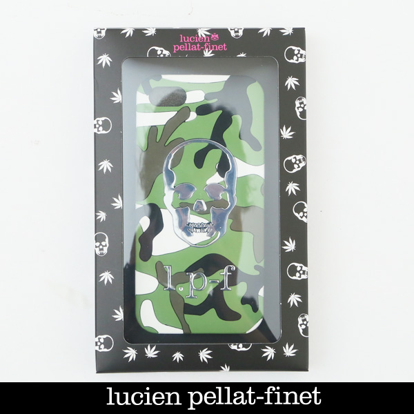 lucien pellat-finet(ルシアン・ペラフィネ)アイフォンケースIPHONE 8対応 携帯ケースカモフラ柄BAN01