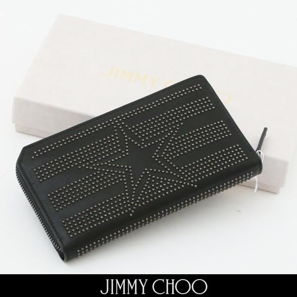 JIMMY CHOO(ジミー チュウ)ラウンドファスナー長財布(ブラック)サイフCARNABY TAO/184