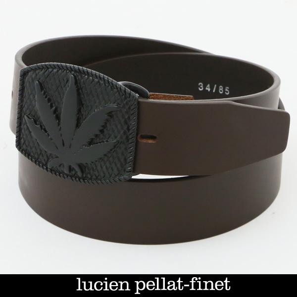 lucien pellat-finet(ルシアンペラフィネ)スカルバックルレザーベルトブラウンBELT25