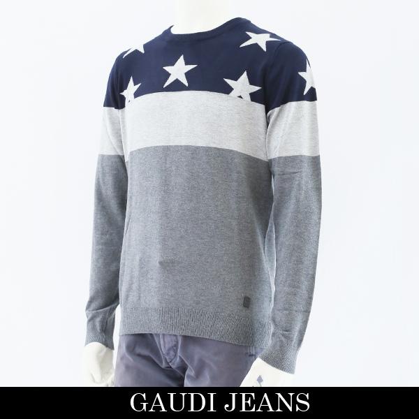 GAUDI(ガウディ)セーターネイビー×グレー821BU53029