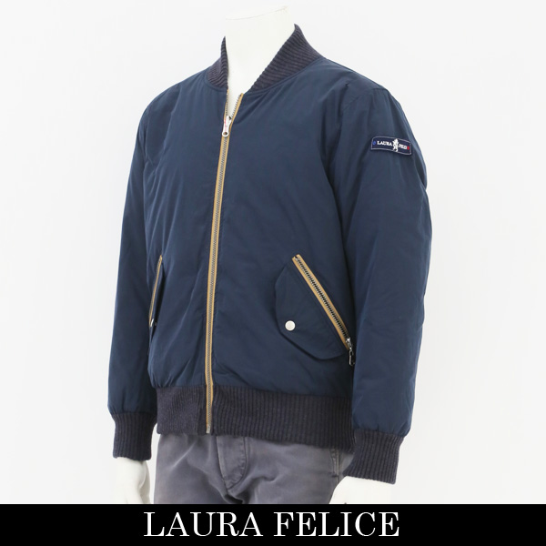LauraFelice(ラウラフェリーチェ)ダウンジャンバーネイビー131 1013 27