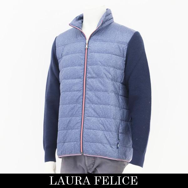 LauraFelice(ラウラフェリーチェ)ダウンジャンバーサックス×ネイビー131 7020 26
