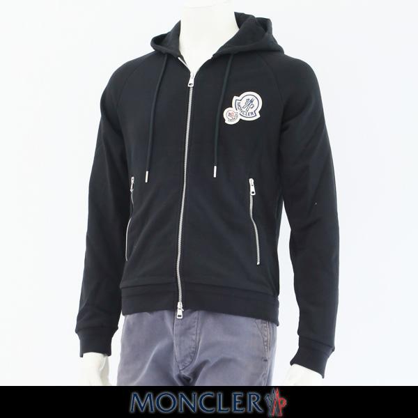 MONCLER(モンクレール)【メンズウェア】ダブルジップアップパーカーブラックD2 091 8401000 80451