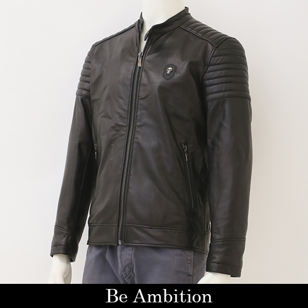 Be Ambition(ビーアンビション)レザージャンバー/ブラックM28201